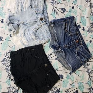 american eagle size 00 festival high rise shorts